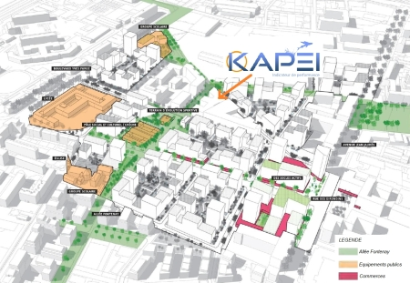 ZAC des Girondins: plan de composition