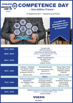 Volvo Competence Day Big data conference flyer