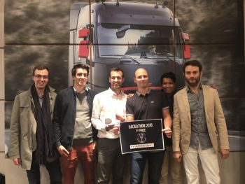 Photo des gagnants du hackathon Volvo Group IT 2018